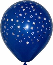 Balonky s potiskem hvězdičky