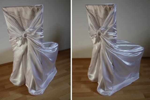 Svatební potahy na židle , svatební potah na židli